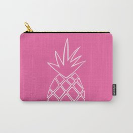 Pineapple Summer Fun - Pink Carry-All Pouch