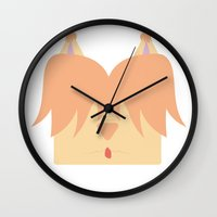 girly Wall Clocks featuring Girly by Pala design