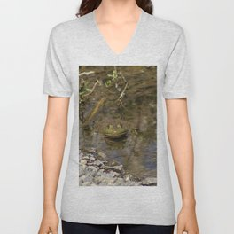 Whatcha Looking at Frog? Unisex V-Neck