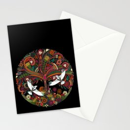tree of life black Stationery Cards