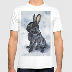 BUNNY#8 MEDIUM White Mens Fitted Tee
