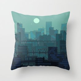 Midnight Blues Throw Pillow