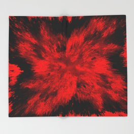 Fire Behind Glass (Red series #11) Throw Blanket