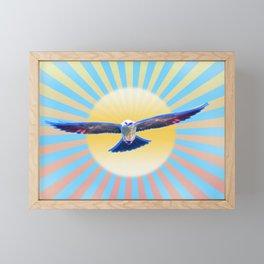 Hawk Starburst Framed Mini Art Print