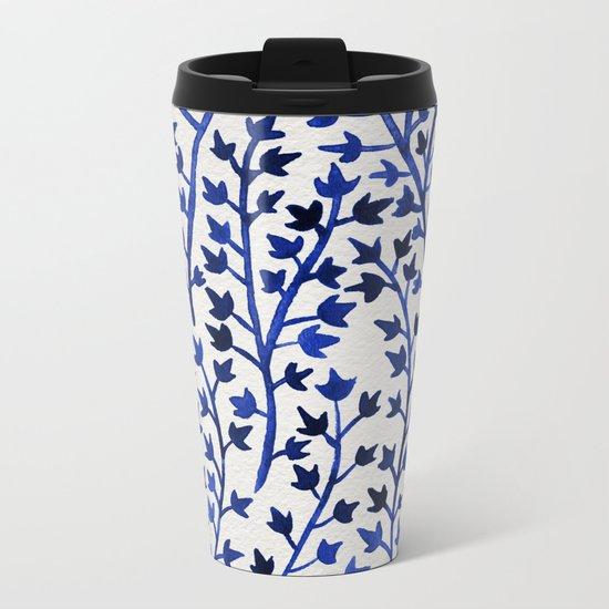 Porcelain Ivy Metal Travel Mug