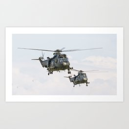Roayl Navy Sea King team Art Print