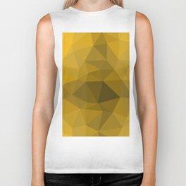 Gold polygonal pattern Biker Tank