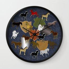 Horsing Around with Heraldry Wall Clock
