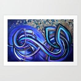 Double Lotus Art Print