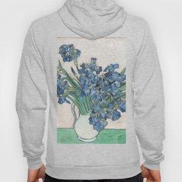 Vincent van Gogh Irises Floral Purple Fine Art Museum Gallery Hoody