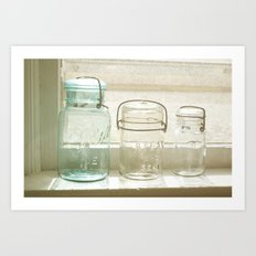 Jars of the Past Art Print
