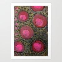 Burst Forth Flower! Art Print