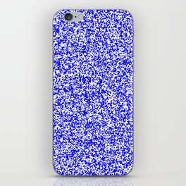 Tiny Spots - White and Blue iPhone Skin