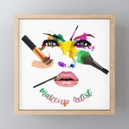 MakeUp Artist, Make up master, fashion Framed Mini Art Print