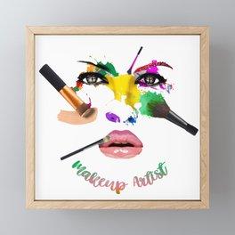 MakeUp Artist, Make up master, fashion Framed Mini Art Print