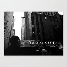 NEW YORK//RADIO CITY MUSIC HALL Canvas Print