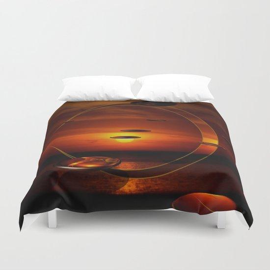 Exploding Sunset Duvet Cover