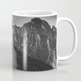 Mountain Landscape in Black and White Coffee Mug