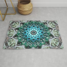 Concentric Blue Glass Rug
