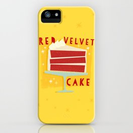 All American Classic Red Velvet Cake iPhone Case