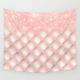 Luxury Rosegold Glitter Pearl Wall Tapestry