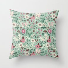 Garden Butterflies Throw Pillow