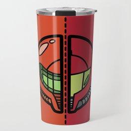 Old & New Samus Aran Travel Mug