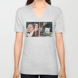 Woman Yelling at Cat Meme-3 Unisex V-Neck