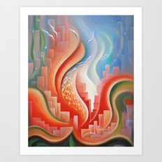 Hibiscus City Art Print
