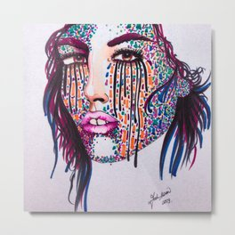 Starry Face  Metal Print