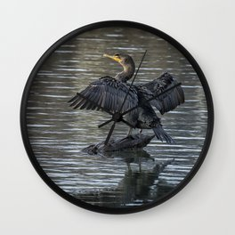 Double-Crested Cormorant Portrait Wall Clock