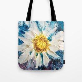 Blue Textured flower Tote Bag
