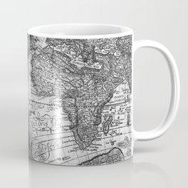 World Map Antique Vintage Black and White Coffee Mug