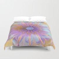 fairies Duvet Covers featuring Flower of Fairies by Klara Acel