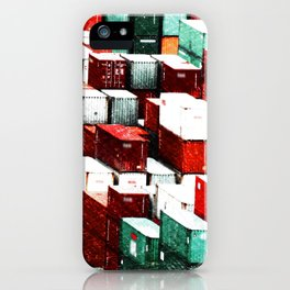 Mint Red Shipping Containers  iPhone Case
