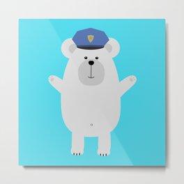 Happy Polar Bear Metal Print