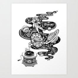 Cosmos Space Music Art Print