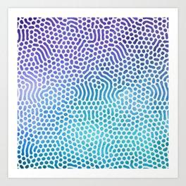 Purple and Turquoise Organic Pattern Art Print