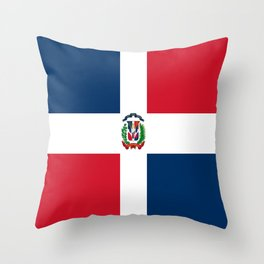 Flag of the dominican republic Throw Pillow