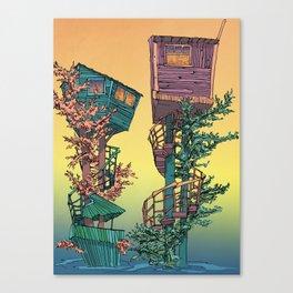 Treehouses 1  Canvas Print