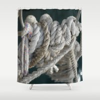 nautical Shower Curtains featuring Nautical by Marietta Dc Fameli