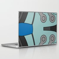 cassia beck Laptop & iPad Skins featuring Mighty No. 9 Beck Suit by Bunny Frost
