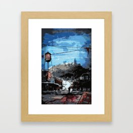 Shadows Over Main Street 1 Framed Art Print