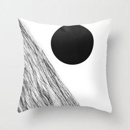 Mid Century Modern Abstract, Sun Minimalist, Scandinavian Throw Pillow