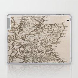 Vintage Map of Scotland (1681) Laptop & iPad Skin