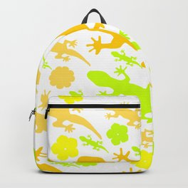 Lizards in yellow and green Backpack