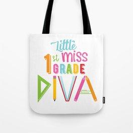 Little Miss 1st Grade Diva Tote Bag