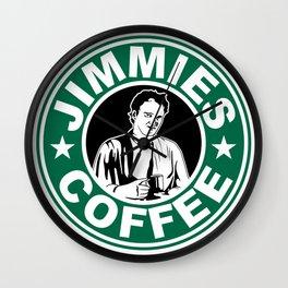 Jimmie's Coffee Wall Clock