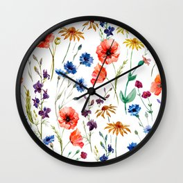 Floral Madness Wall Clock
