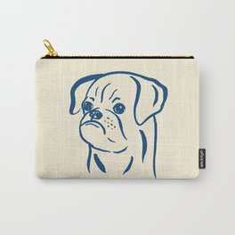 Petit Brabancon (Beige and Blue) Carry-All Pouch